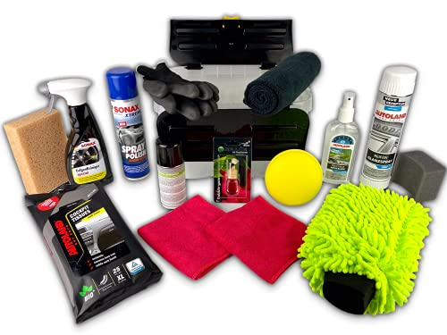 Autopflege Set: Rocket Performance Box 16-teilig - Autoreinigungs- und Pflegeset für außen und innen Autoduft: Bubble Gum