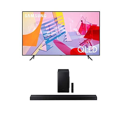 SAMSUNG Q60T Series 43inch Class QLED Smart TV | 4K UHD Dual LED Quantum HDR | Alexa Builtin  HWT650 31ch Soundbar with 3D Surround Sound 2020