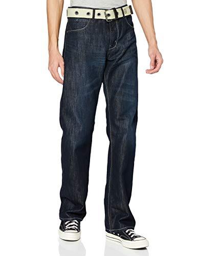Enzo Herren EZ14 Jeans, Darkwash 14, 32W / 30L