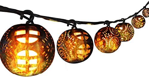 Led Lichterketten Flamme Lampe, Lichterkette Außen, IP44 Wasserdicht, 112 LEDs Warmweiß Lchterkette für Party, Zimmer