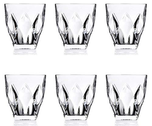 RCR: Set di 6 bicchieri in cristallo Ninphea Trends