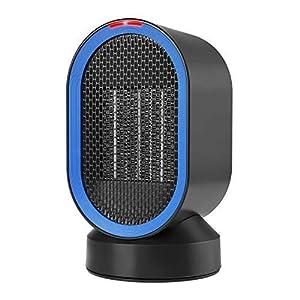 COMLIFE Calefactor Eléctrico Cerámico Oscilación Automática Viento Caliente y Natural Calentador Portátil para el hogar y la Oficina, 600W