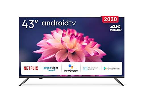 Tv 43 pulgadas 4K LED con Smart TV (Android TV) y WiFi