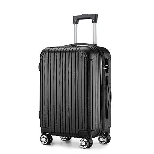 Maleta de equipaje de rueda universal, para estudiantes de moda, negro, morado, plata y otros colores. Tamaño: 20 pulgadas (35/23/56cn), 24 pulgadas (42/26/66 cm)
