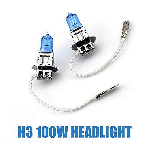 Skoda Fabia 6Y3 H3 100w Clear Xenon HID High Main Beam Headlight Bulbs Pair
