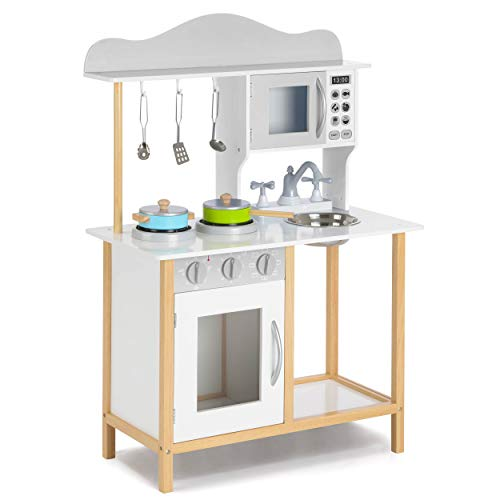 Playhouse TY6133 Little Sous Chef's, Kids Wooden Playset and Pretend Kitchen Role Play