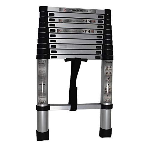Aluminum Telescopic Extension Ladder Folding Step One-Button Inward Sliding Retraction 10.5FT / 3.2M 12.5FT / 3.8M 14.5FT / 4.4M Multi-Use Non-Slip (10.5FT / 3.2M)