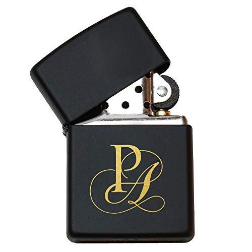 Pixelstudio Zippo aansteker met initialen gravure cadeau mannen vrouwen rokers zwart persoonlijk persoonlijk naam cadeau-idee Nur Zippo (unbefüllt)