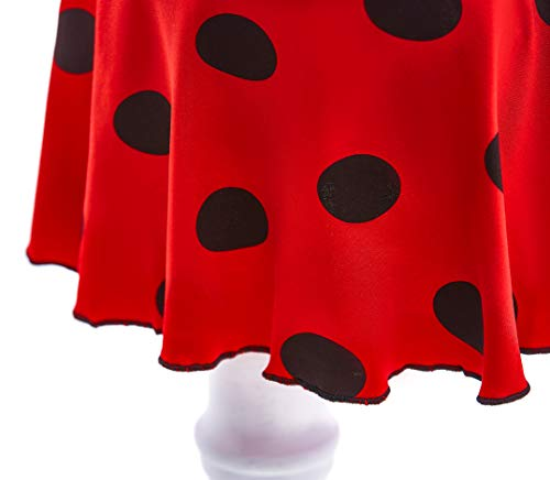 Lito Angels Girls Ladybug Red Black Polka Dots Swimming Costume Summer Dress Up Bathing Suit Swimsuit Swimwear One Piece 10-11 Years 055