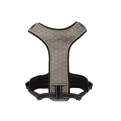 BZZBZZ Pet Explosionsgeschützter Vierpunkt-Brustgurt, Sportschutz-Brustgurt, Nachtspiegelnde Hundeweste, Geeignet für Akita-Samojeden (schnurlos)