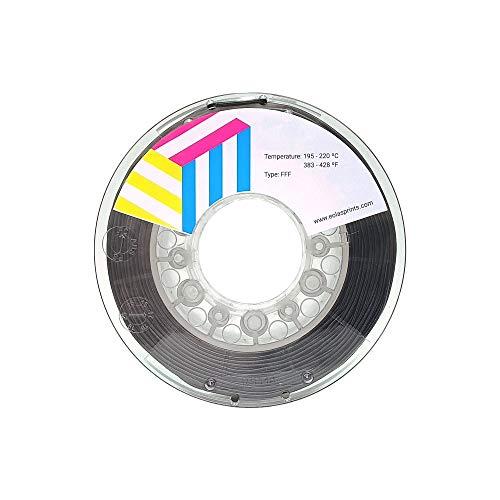 Eolas Prints | Filament 3D Printing 100% PETG | Stampante 3D | Prodotto in Spagna, Adatto per l'uso con cibo e creare giocattoli | 1.75mm | 1Kg | Nero
