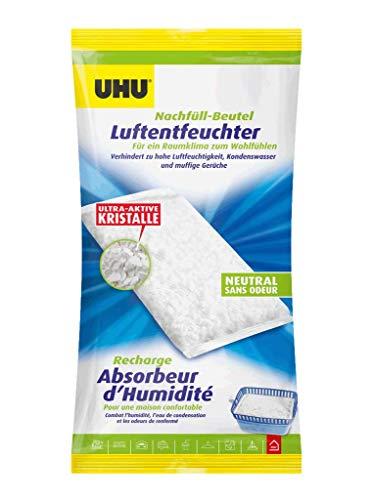 UHU Luftentfeuchter Airmax Nachfüllbeutel, Verhindert Feuchtigkeit und muffige Gerüche in Räumen bis zu 80 m³, 1000 g