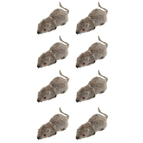 Widmann ? Set de 8 Souris floccati, Multicolore, 004.wd8702 m