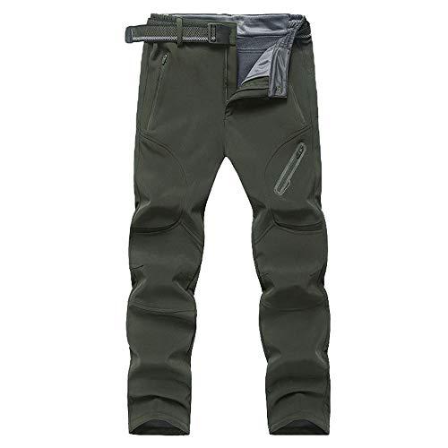Mens Outdoor Trousers Waterproof, Chickwin Winter Sport Hiking Pants Mens Multi Pockets Walking Cycling Mountain Bike Windproof Climbing Sport Causal Pants (ArmyGreen,9XL)