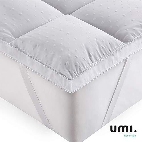 UMI. Essentials 3D Coprimaterasso Imbottito,Coprimaterasso in Microfibra di Poliestere,Morbidezza,antiallergico - 160x200cm