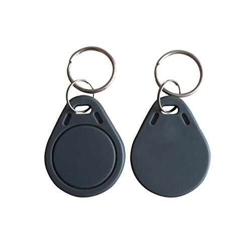 YARONGTECH ISO14443 A RFID Schlüsselanhänger 13.56MHz grau Nähe ABS IC Tags NFC MIFARE Classic® 1K Tag für Zugriff Controll (100 Stück)