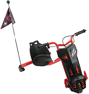 Drifting electric power scooter high speed & bluetooth 3 wheel   - Red