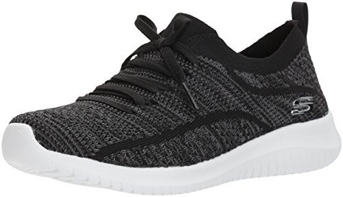 Skechers Ultra Flex, Zapatillas Mujer, Negro (BKGY Black Knit Mesh/Trim), 38.5 EU