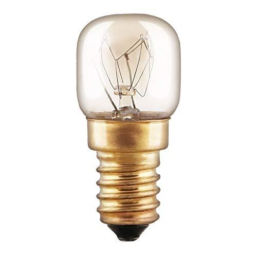 Backofenlampe Glühbirne 25W E14 klar Glühlampe T22 Röhre 300° Doppelwendel