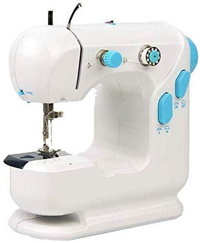 Yuaer Mini máquina de coser, cortadora automática de hilo de dos velocidades para tela, herramientas de costura de tela, color azul, tamaño: 24 * 11.5 * 22 cm