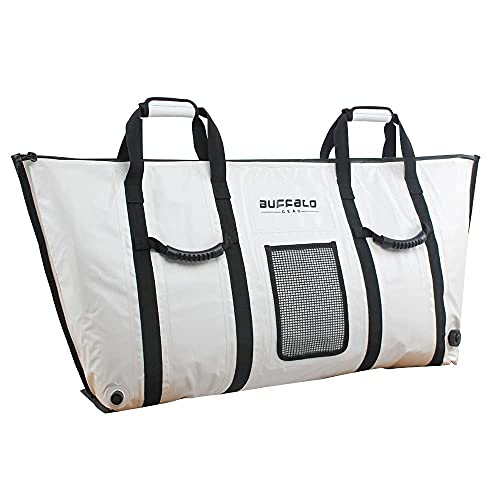 Buffalo Gear Insulated Fish Cooler Bag 70 inch Monster Leakproof Fish Kill Bag,Large Portable...