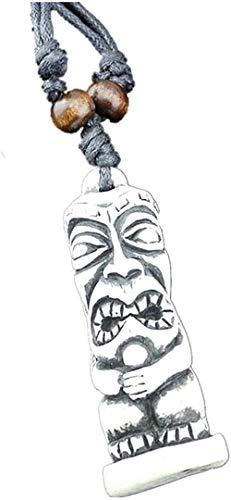 BEISUOSIBYW Co.,Ltd Collar de Moda Joven tótem Tallado Falso para Hombres Colgantes de Resina Collares Ajustables amuletos Regalos