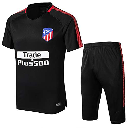 PARTAS Football Wear Verein Uniform Atletico Madrid Short Sleeve Trainingsanzug Wettbewerb Anzug Herren-Geschenk-Ausrüstungs-T-Shirt Männer Jersey 2 Stück Sets (Size : S)
