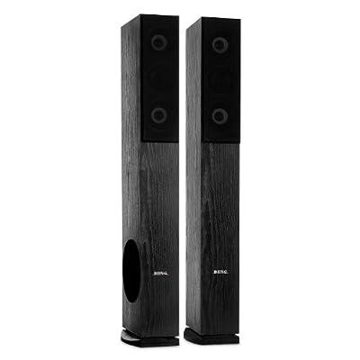 Beng LB4707 Floor Standing Speakers (960 Watts, Bass Reflex & 4 Way Techonogly) - Black Ash Wood Finish by Beng