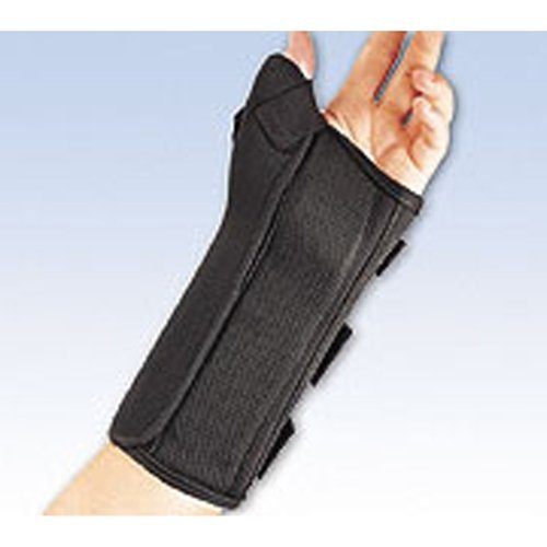 FLA 22-461SMBLK Wrist Splint With Abducted Thumb Black Left Small