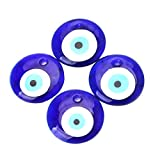 HEALLILY pendentif oeil de verre pendentif oeil méchant oeil pendentif suspendu pendentif bricolage bijoux charmes conclusions pour collier clé bracelet faisant 4pcs (bleu)