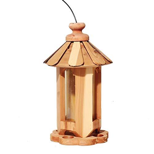 ZhuFengshop Vogelvoedertafel Vogelvogel Tafel, Hanging Houten Vogelvoederstation, Zaad en Moer Voeder - 18cm Hoge Finches, Tuin, Buiten