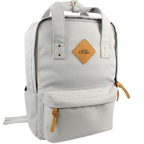 Fjorda Rucksack Clari für Damen - Schön und durchdacht mit Laptopfach & Außentasche - Wasserdicht für die Uni, Reisen oder Freizeit
