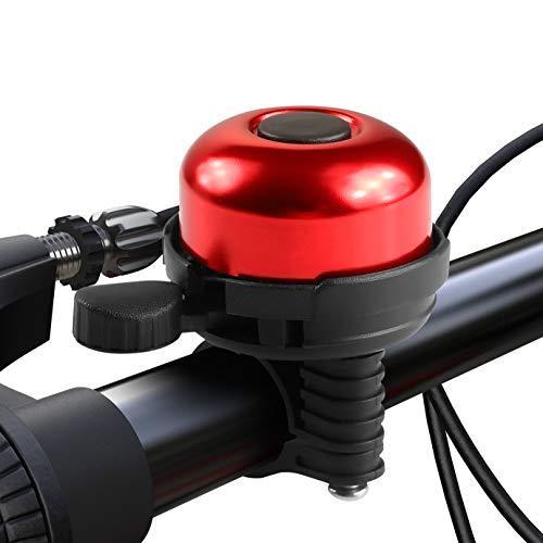 Paliston Campanello per Bicicletta Alluminio Campanello per Bici Stile 1 Rosso