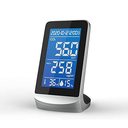 VISLONE DM72D Tragbarer Luftqualitätsanalysator Digitalanzeigebildschirm CO2 PM2.5 Temperatur Feuchtigkeitsdetektor Monitor Multifunktionaler Infrarot-NDIR-Detektor Desktop Home Haushalt Innen Außen