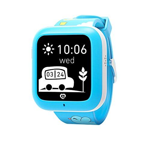 Misafes intelligente orologio per bambini, Kids GPS Tracker Localizzatore Baby, comunicazione bidirezionale/GPS/SOS di allarme per iOS Android