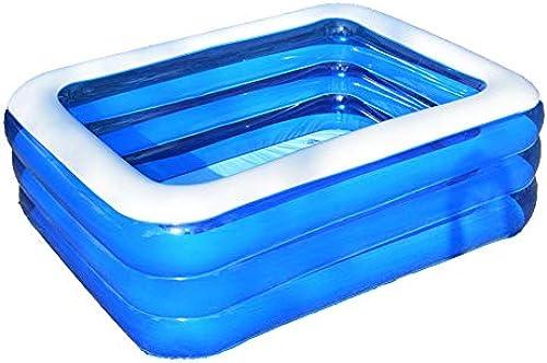 Aufblasbares Schwimmbecken für Familien, Schwimmbecken im Innen-   Au pool, leicht zu reinigen und zu lagern, geeignet für Kinder Erwachsene