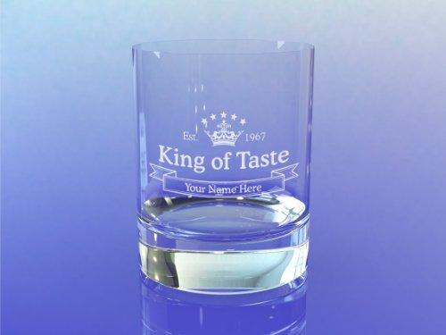 Whiskey glas met uw naam en jaar (King of Taste Design)