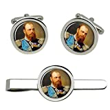 Giftshop UK Zar Alexander III Gemelos y Corbata Clip Set