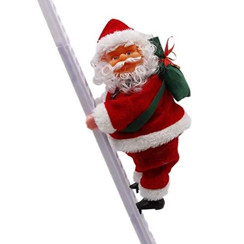 FANDE Santa Climbing Rope Ladder, Scala da Arrampicata per Babbo Natale, Babbo Natale Scala Elettrica per Arrampicata, Regali di Capodanno Home Decor Arrampicata Babbo Natale Xmas Ornament