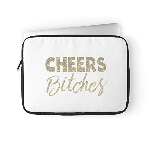 Year to Heres Cheers Years Happy New The Eve Glitter Laptop Sleeve Case Cover Handbag for MacBook Pro/MacBook Air/Asus/Dell/Lenovo/Hp/Samsung/Sony.Etc