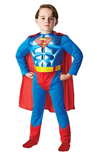 Rubies Officielle DC Comics Batman métallique Chest Superman, Enfant, Costume – Medium