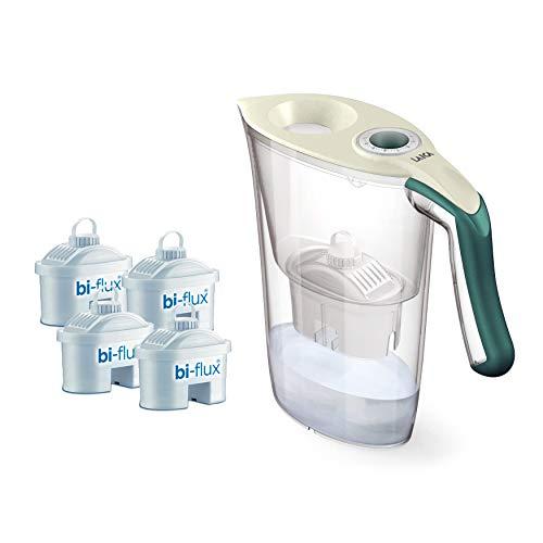 Laica J9059 kit caraffa Carmen Tosca con 4 Filtri Bi-Flux (4 mesi di acqua filtrata), 100%...
