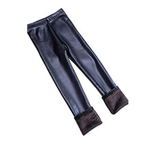 puseky peuter meisjes kinderen herfst winter warm dikker PU leer lange broek legging