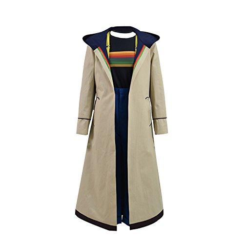 Jinlan Doktor dreizehnten Who Cosplay Kostüm Beige Mantel für Frauen (M, Vollständiger Satz)