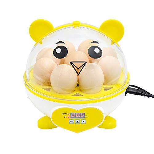 Huatuo Incubatrice per uso domestico Controllo automatico della temperatura Mini uova digitali da cova Controllo automatico della temperatura Hatcher per polli, anatre, uccelli (9eggs)