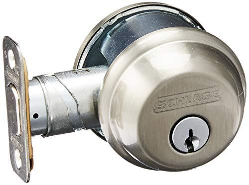 SCHLAGE Lock CO B60N619 Single Cylinder Deadbolt, Satin Nickel