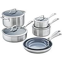 10-Piece Zwilling J.A. Henckels Spirit Ceramic Nonstick Cookware Set