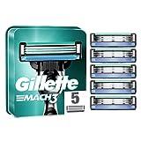 Gillette Mach3 Cuchillas de Afeitar Hombre, Paquete de 5 Cuchillas de Recambio