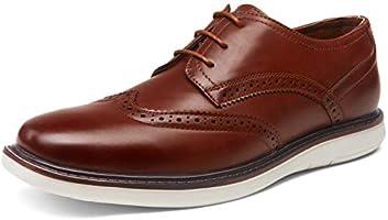 VOSTEY Men's Dress Shoes Casual Dress Shoes for Men Oxford Shoes Business Wingtip Shoes