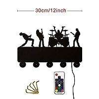 Gang-LL シンガーアイドルにロックバンドウォールフックホームデコレーション音楽バンドラックコートキーホルダーギフト